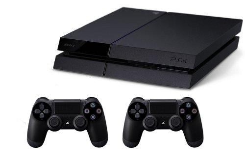 Sony Playstation 4 500GB PS4 BLACK + Dualshock4 Wireless Controller 2pcs.