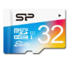 SILICON POWER 32GB, MICRO SDHC UHS-I, Class 10, with SD adapter, Color 2