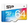 SILICON POWER 64GB, MICRO SDXC UHS-I, Class 10, with SD adapter, Color 2