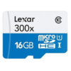 Lexar 16GB microSDHC C10 300x with adapter high speed / Reads microSD, microSDHC, and M2 memory cards New 2