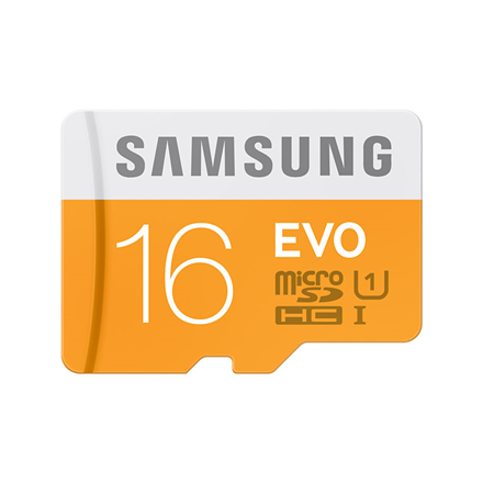 SAMSUNG 16GB EVO, MICRO SDHC, CLASS 10 WITH USB reader