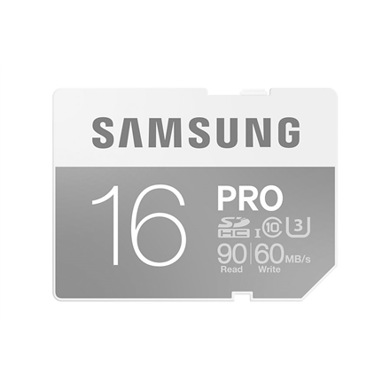 SAMSUNG 16GB, SDHC PRO Memory Card, CLASS 10, Read: up to 90MB/s, Write: uo to 60MB/s