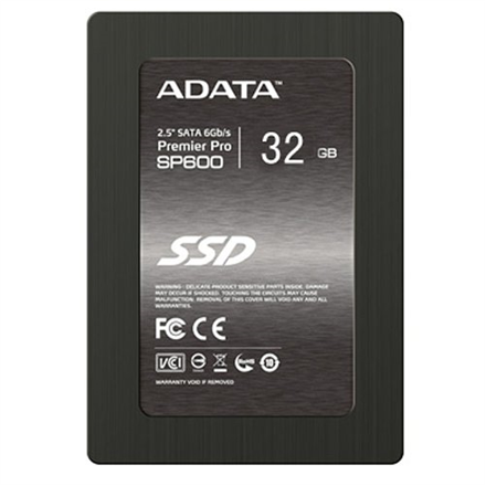 A-DATA SSD Premier Pro SP600 32GB 2.5 SATA 6Gb/s, Sequential Read: 480 MB/sec, Sequential Write: 250 MB/sec