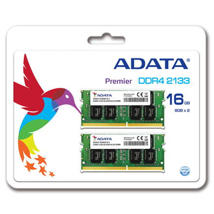 A-DATA 16GB DDR4 SO-DIMM (1024Mx8) 2133MHz 260-pin 1.2V