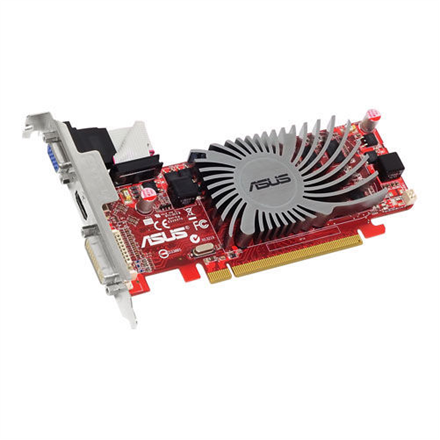 ASUS EAH5450 SILENT/DI/1GD3(LP)  / Radeon HD 5450 / PCIE 2.1 / 1GB DDR3 / 64-bit / Core 650MHz / Display Port  / DVI / D-Sub / HDCP / HDCP
