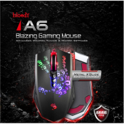 A4Tech Bloody Gaming Mouse A6 Wired USB, with metal feet, Blazing Hand 4