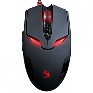 Oheislaitteet->Hiiret : A4Tech Bloody Gaming Mouse V4M Wired USB, with metal feet (Black).  Takuu: 24 kk.