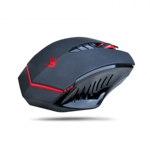 Oheislaitteet->Hiiret : A4Tech Bloody Gaming Mouse V8M Wired USB, with metal feet (Black).  Takuu: 24 kk.