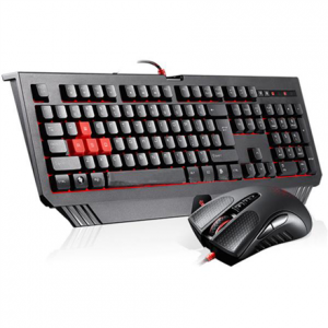 Oheislaitteet->Näppäimistöt : A4tech Bloody wired combo pack, V9C gaming mouse and B100 gaming keyboard, anti-slip surfaces and grips, US layout.  Takuu: 24 kk.