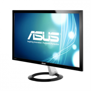 "Multimedia->LCD Näytöt-23 : ASUS VX238H 23"" WIDE LED FHD LCD/ 0.2652/ 1920x1080/ 80M:1/ 1ms (gray to gray)/ H=170 V=160/ 250cdq/ D-Sub/ DVI-D(via cable)/ 2xHDMI/ Tilt / Slim / Black.  Takuu: 36 kk."