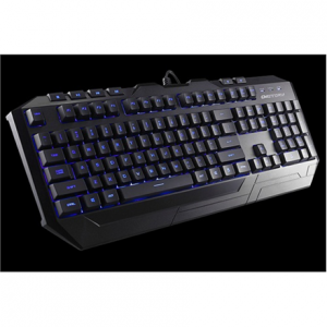 Oheislaitteet->Näppäimistöt : CM Storm Devastator combo pack, MS2K gaming mouse and MB24 gaming keyboard, Blue LED accents, anti-slip surfaces and grips, UK layout.  Takuu: 24 kk.