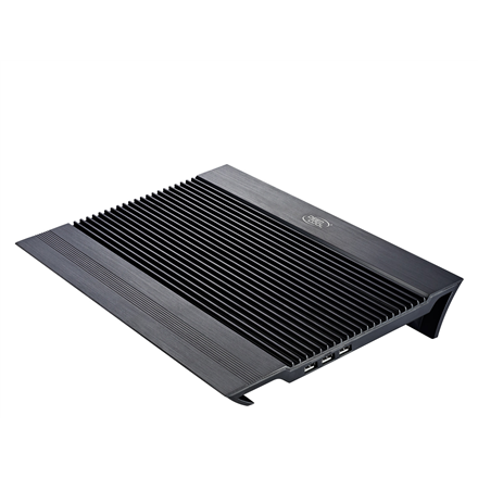 "Kannettavien tarvikkeet->Muut kannettavien tarvikkeet : Deepcool Notebook cooler N8 black up to 17"" nb, 2x140mm black fan, pure aluminium panel provides exellent performance.  Takuu: 24 kk."