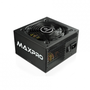 Komponentit->Virtalähteet : Enermax MaxPro series 500W, (80PLUS), Single +12V Rails/ Silent 120mm FAN/ High efficiency >86%/ Active PFC PSU, retail packing.  Takuu: 36 kk.