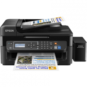 Toimistotarvike->Mustesuihkutulostimet : Epson L565 Inkjet Multifunction Printer / Print, Scan, Copy, Fax  / 4 Ink Cartridges KCYM/ 33ppm mono/ 15ppm color / 1200 dpi x 2400 dpi /  USB / WiFi.  Takuu: 24 kk.