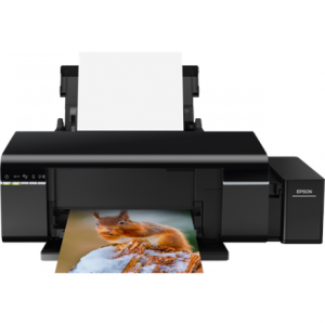 Toimistotarvike->Mustesuihkutulostimet : Epson L805 Inkjet Photo printer / 6 Ink Cartridges / 37ppm mono/ 38ppm color / USB / Wifi / Paper tray 120 Sheets / Prints on CD / DVD.  Takuu: 12 kk.