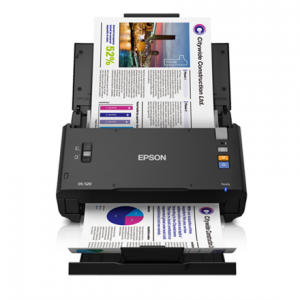 Toimistotarvike->Asiakirjaskannerit : Epson WorkForce DS-520 Color Document Scanner.  Takuu: 12 kk.