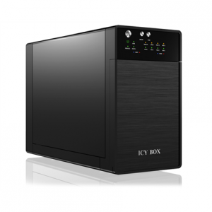Komponentit->Kovalevytelineet : ICY BOX,External RAID Storage Enclosure for 2x 3.5'' SATA HDDs with USB 3.0 and eSATA. JBOD.RAID 0,1, black.  Takuu: 24 kk.