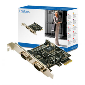 Komponentit->Muut PC-kortit : Logilink PCI-express interface card, 2x com(serial).  Takuu: 12 kk.