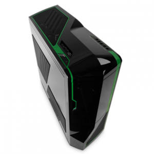 Komponentit->PC kotelot : NZXT Phantom  Black with Green strips,Full Tower, Window, USB 3.0 x2, fan controler,  all black,  w/o PSU, mATX, ATX,.  Takuu: 24 kk.
