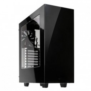 Komponentit->PC kotelot : NZXT S340, black,  Midl tower with Window, 2x USB 3.0;  w/o PSU, mATX / ATX.  Takuu: 24 kk.