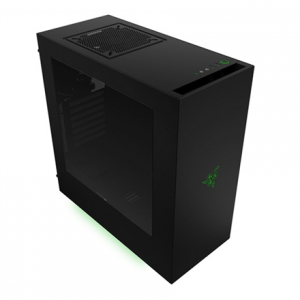 Komponentit->PC kotelot : NZXT Source 340,Razer edition,  Midl tower with Window, 2x USB 3.0;  w/o PSU, mATX / ATX.  Takuu: 24 kk.
