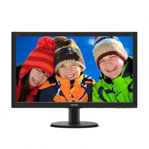 "Multimedia->LCD Näytöt-24 : PHILIPS 240V5QDAB 23.8"" IPS-ADS/16:9/1920x1080/250cdm2/5ms/H-178,V-178/1000:1/VGA,DVI-D,HDMI/Tilt,Vesa/Speakers 2x2W/Black.  Takuu: 24 kk."
