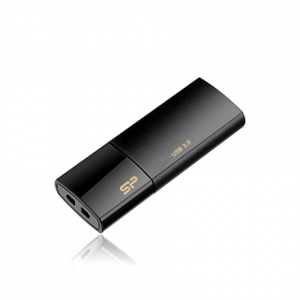 Oheislaitteet->USB Muistitikut : SILICON POWER 128GB, USB 3.0 FlASH DRIVE, BLAZE SERIES B05, BLACK.  Takuu: 24 kk.