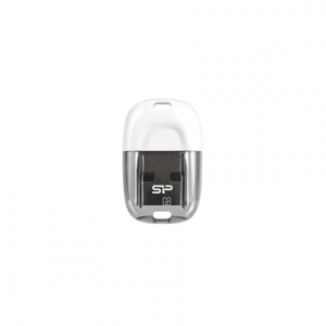 Oheislaitteet->USB Muistitikut : SILICON POWER 32GB, USB 2.0 FLASH DRIVE, TOUCH T09, White.  Takuu: 24 kk.