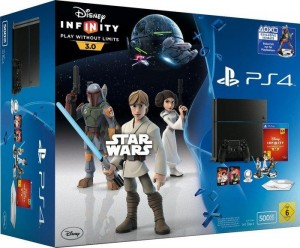 Sony Playstation 4 500GB (PS4) + Star Wars Disney Infinity 3.0 + Boba Feet Character .  Takuu: 24 kk.