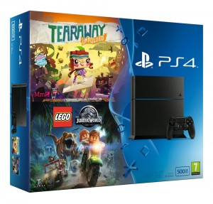 Sony Playstation 4 500GB (PS4) + Tearaway Unfolded .  Takuu: 24 kk.